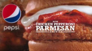 Arby's Chicken Pepperoni Parmesan Sandwich TV Spot, 'Also Belongs' - Thumbnail 4