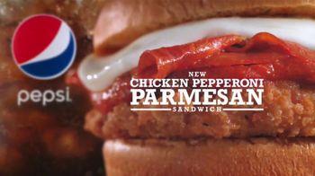 Arby's Chicken Pepperoni Parmesan Sandwich TV Spot, 'Luxurious Place' - Thumbnail 8