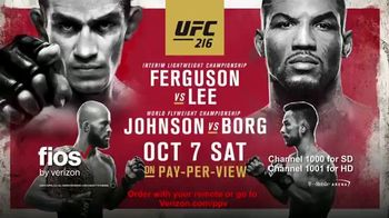 Fios by Verizon Pay-Per-View TV Spot, 'UFC 216: Ferguson vs. Lee'