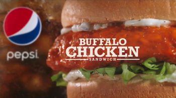 Arby's Buffalo Chicken Sandwich TV Spot, 'Sports Bar' - 582 commercial airings
