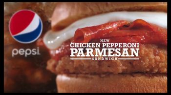 Arby's Chicken Pepperoni Parmesan Sandwich TV Spot, 'Eggplant' - Thumbnail 9