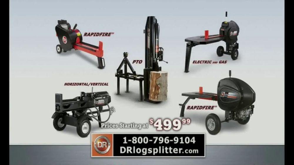 DR K10 Electric RapidFire Log Splitter TV Commercial, 'No More Waiting' -  Video