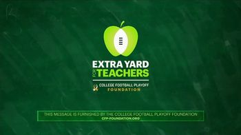 College Football Playoff Foundation TV Spot, 'Extra Yard for Teachers' - Thumbnail 9