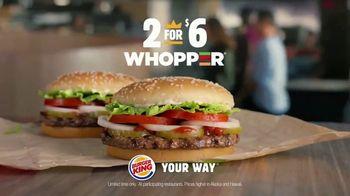 Burger King 2 for $6 Whopper Deal TV Spot, 'Bye' - Thumbnail 10