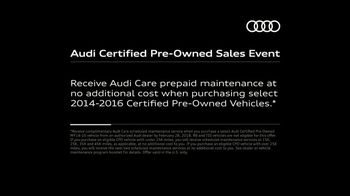 Audi Certified Pre-Owned Sales Event TV Spot, 'Second Owners Rest Easy' [T2] - Thumbnail 10