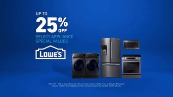 Lowe's TV Spot, 'The Moment: Special Appliances Special Values' - Thumbnail 5