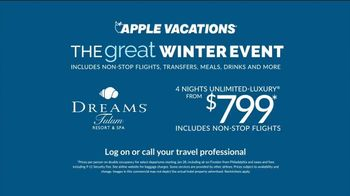 Apple Vacations Great Winter Event TV Spot, 'All-Inclusive: Dreams Resort' - Thumbnail 7