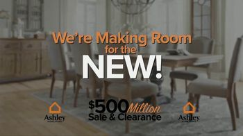 Ashley HomeStore $500 Million Sale & Clearance TV Spot, 'Room for the New'