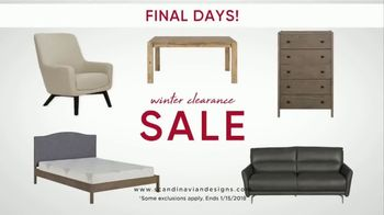 Scandinavian Designs Winter Clearance Sale TV Spot, \'One Final Week\'