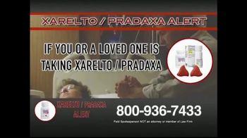 Xarelto/Pradaxa Alert TV Spot, 'Significant Compensation'