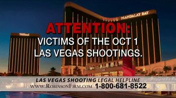 Robinson Firm TV Spot, 'Victims of the Las Vegas Shootings' - Thumbnail 1