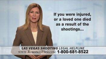 Robinson Firm TV Spot, 'Victims of the Las Vegas Shootings' - Thumbnail 2