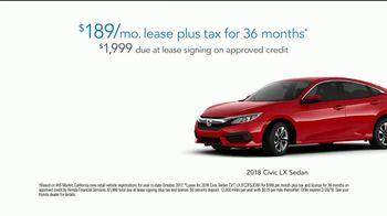 2018 Honda Civic LX TV Spot, 'Campus Helpful Phone' [T2] - Thumbnail 8