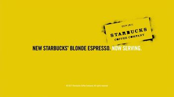 Starbucks Blonde Espresso TV Spot, 'Now Serving Blonde Espresso: Hello' - Thumbnail 10