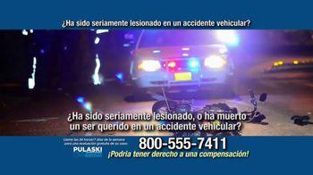 Pulaski Law Firm TV Spot, 'Accidente vehicular' [Spanish]
