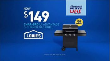 Lowe's Memorial Day Savings Event TV Spot, 'Outdoor Look: Gas Grill' - Thumbnail 8