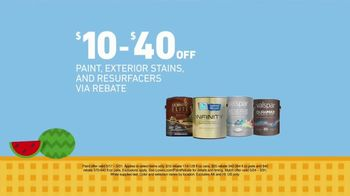 Lowe's Memorial Day Savings TV Spot, 'Paint, Exterior Stains and Mulch' - Thumbnail 3
