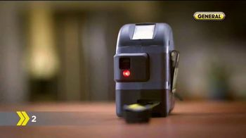 General Tools 2-in-1 Laser Tape Measure TV Spot, 'Single Handedly' - Thumbnail 2