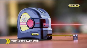 General Tools 2-in-1 Laser Tape Measure TV Spot, 'Single Handedly' - Thumbnail 7