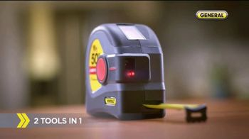 General Tools 2-in-1 Laser Tape Measure TV Spot, 'Over a Century' - Thumbnail 3