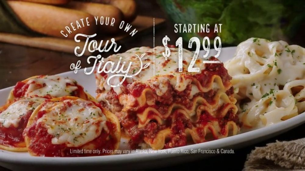 Olive Garden Create Your Own Tour Of Italy Tv Commercial