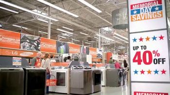The Home Depot Memorial Day Savings TV Spot, 'Samsung Stainless Suite' - Thumbnail 6