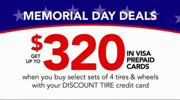 Discount Tire Memorial Day Deals TV Spot, 'VISA Prepaid Card' - Thumbnail 8
