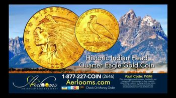 Aerlooms Indian Head Gold Coins TV Spot, 'Original and Authentic' - Thumbnail 2