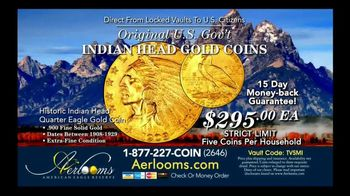 Aerlooms Indian Head Gold Coins TV Spot, 'Original and Authentic' - Thumbnail 5