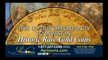 Aerlooms Indian Head Gold Coins TV Spot, 'Original and Authentic' - Thumbnail 6