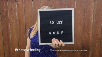 Weight Watchers TV Spot, 'That WW Feeling: Ten Pounds' Feat. Oprah Winfrey - Thumbnail 1