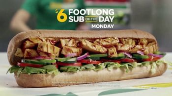 Subway $6 Footlong Sub of the Day TV Spot, 'Big on Taste, Small on Price' - Thumbnail 3