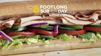 Subway $6 Footlong Sub of the Day TV Spot, 'Big on Taste, Small on Price' - Thumbnail 5