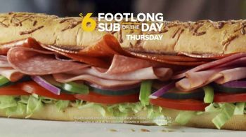 Subway $6 Footlong Sub of the Day TV Spot, 'Big on Taste, Small on Price' - Thumbnail 6
