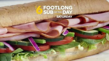 Subway $6 Footlong Sub of the Day TV Spot, 'Big on Taste, Small on Price' - Thumbnail 8