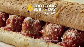 Subway $6 Footlong Sub of the Day TV Spot, 'Big on Taste, Small on Price' - Thumbnail 9