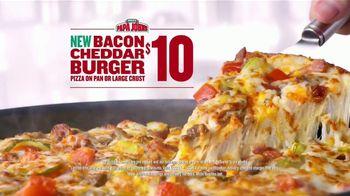 Papa John's Bacon Cheddar Burger Pizza TV Spot, 'Dunk' Feat. Paul George - Thumbnail 10