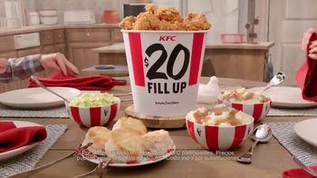 KFC $20 Fill Up TV Spot, 'Dejen de ver sus teléfonos' [Spanish]