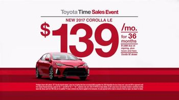 Toyota Time Sales Event TV Spot, '2017 Corolla Leasing' [T2] - Thumbnail 6