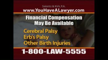 Saiontz & Kirk, P.A. TV Spot, 'Cerebral Palsy: Protect Your Child'