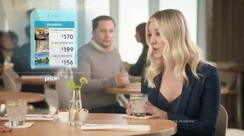 Priceline.com TV Spot, 'Choked Up' Featuring Kaley Cuoco - Thumbnail 3