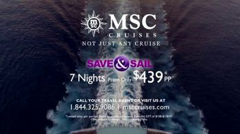 MSC Cruises Save & Sail TV Spot, '7-Night Caribbean Cruise' - Thumbnail 10