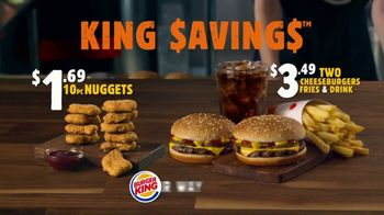 Burger King King Savings Menu TV Spot, 'Cheeseburger Meal' - Thumbnail 7