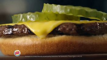 Burger King King Savings Menu TV Spot, 'Cheeseburger Meal' - Thumbnail 1