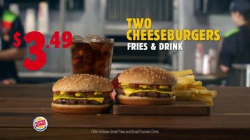 Burger King King Savings Menu TV Spot, 'Cheeseburger Meal' - Thumbnail 2