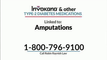 Robin Raynish Law TV Spot, 'INVOKANA Amputations' - Thumbnail 3