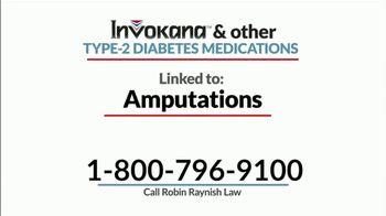 Robin Raynish Law TV Spot, 'INVOKANA Amputations' - Thumbnail 4