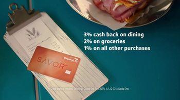 Capital One Savor Card TV Spot, 'Sandwich' - Thumbnail 10