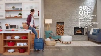 Macy's Big Home Sale TV Spot, 'Bedroom, Kitchen and Luggage' - Thumbnail 7