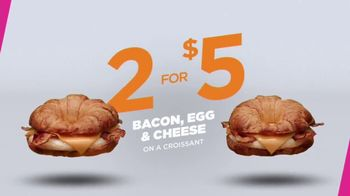 Dunkin' Donuts Bacon, Egg & Cheese Croissant TV Spot, 'Save the Day' - Thumbnail 3